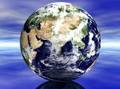 stock photo of saudi arabia  - 3D Earth showing middle east - JPG
