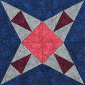 picture of quilt  - Detail of the quilt from pieces of fabric - JPG