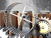 stock photo of hamster  - hamster wheel power 3d image - JPG