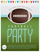 Football Party Flyer poster