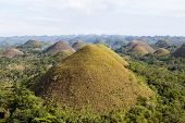 picture of chocolate hills  - Green Chocolate Hills in Bohol Island  - JPG
