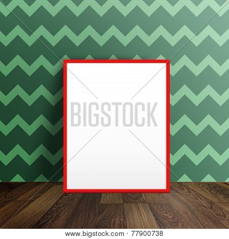 Blank  Poster In A Room Interior