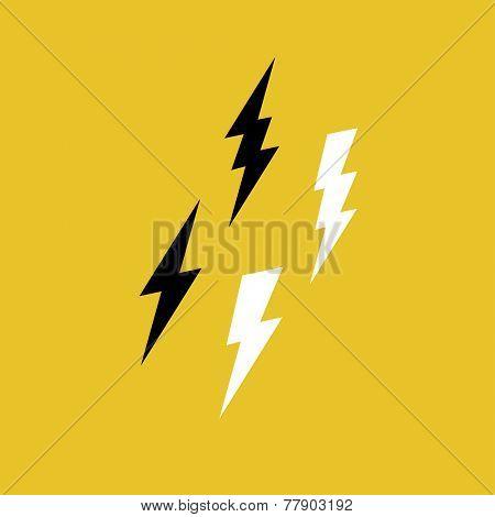 Lightning Bolt Icons on Yellow