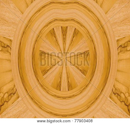 abstract ornamental motif with wood samples