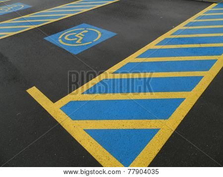parking place reserved for disabled people