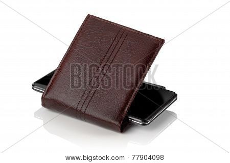 Cellular Phone And  Wallet