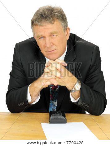Contemplating Businessman