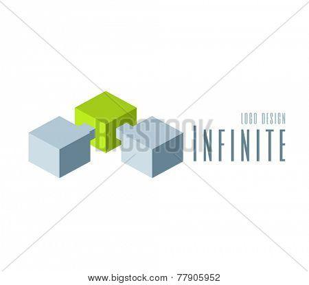 Techno Logo design template. Abstract Infinite shape logo templates. Team Concept