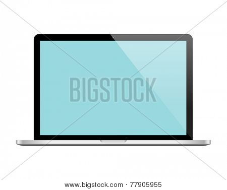 Notebook. Vector Laptop isolated on white