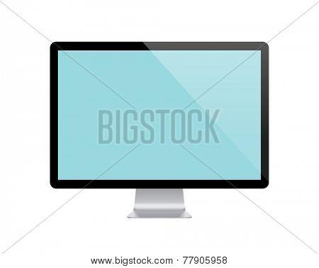 Responsive computer display vector. Screen