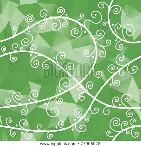 green seamless floral background
