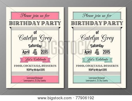 Art Deco Birthday Party Invitation