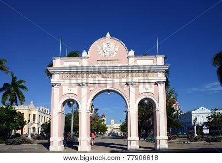 Arch of Triumph (Arco de Triunfo) in Cienfuegos, Cuba