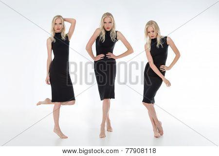 Full Figures Of Pretty Blonde Model