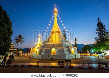 Wat Phra That Doi Kong Mu temple, Mae Hong Son, Thailand.