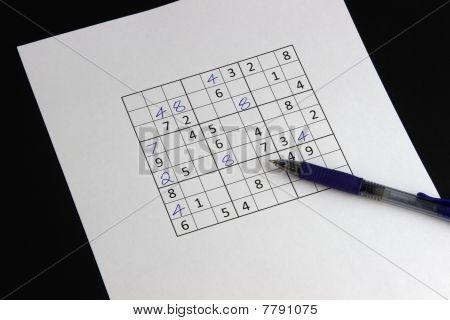 Unfinished Sudoku Puzzle