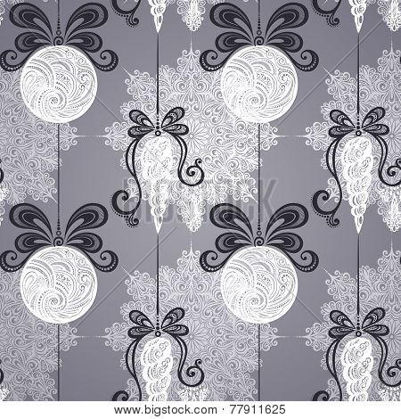 Vector Seamless Ornate Winter Pattern