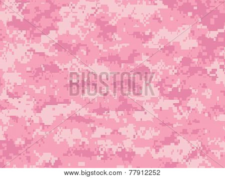 Girly Pink Camo pixels