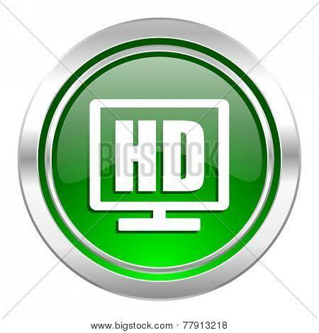 hd display icon, green button