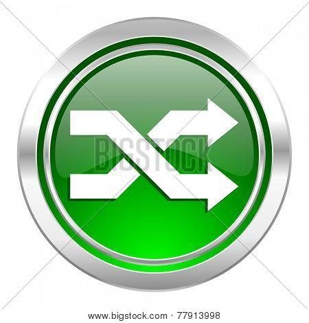 aleatory icon, green button