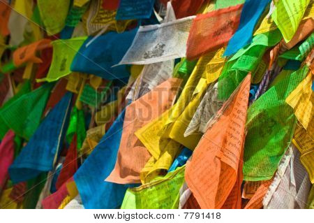 Colorful Tibetan Prayer Flags
