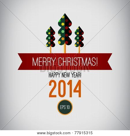 Merry christmas design. Happy new year. 2014. Vintage Christmas