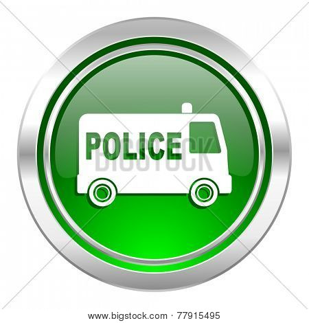 police icon, green button