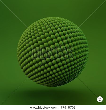 Sphere. 3d vector template. Abstract illustration.