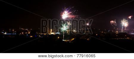 Fireworks Panoramic View