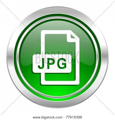 jpg file icon, green button