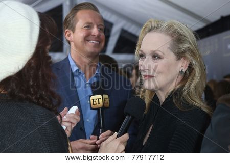 NEW YORK-DEC 8: Actress Meryl Streep (R) attends the