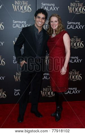 NEW YORK-DEC 8: Actor Adam Jacobs (L) and wife Kelly attend the