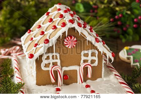 Homemade Candy Gingerbread House