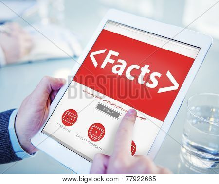 Facts Information Data Analysing Reality Concepts