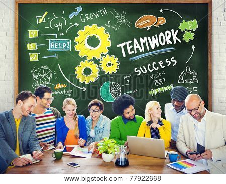 Teamwork Team Together Collaboration Education Learning Studying Concept