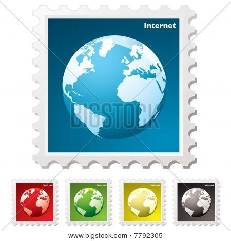 Internet World Stamp