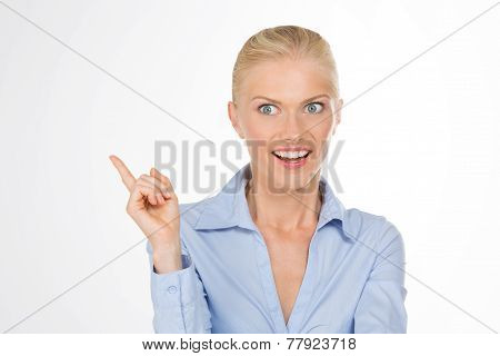 Surprised Woman On Isolated Background