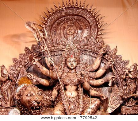 Durga like wooden