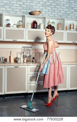 Woman With A Mop.