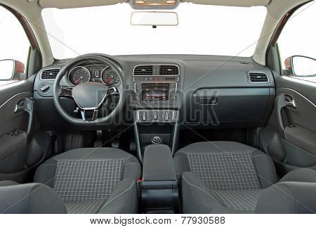 Grey car interior