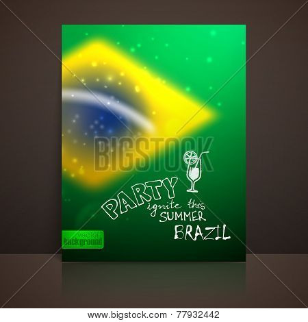 vector blurred background with sparkles in brazil flag concept for design and website background. br