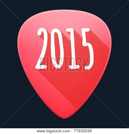 Guitar Pick Year 2015 Design