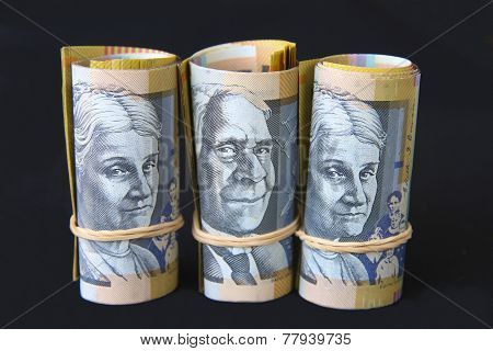 Rolls of Australian Money