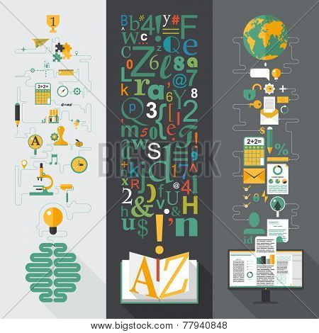 Flat design vector illustration concepts for business, web, mobile marketing, partnership, education