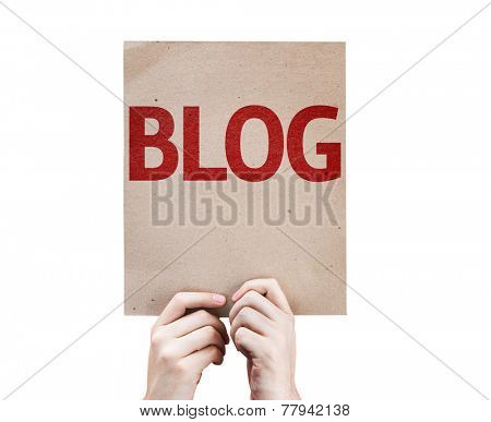 Blog card isolated on white background