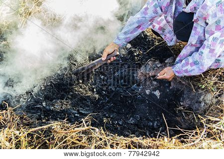 Picking Charcoal
