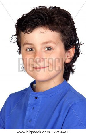 Funny Child With Blue T-shirt