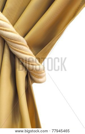 Curtain Tie Isolated Photo With Clipping Patch
