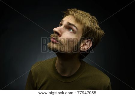 Man Looking Up