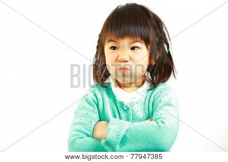 bad mood Japanese little girl